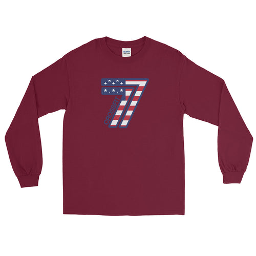 77 America Long Sleeve T-Shirt (Gildan)