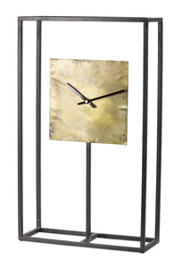 "Clock 13"" x 21.75""H Iron/Copper"