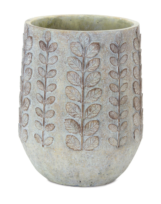 "Pot (Set of 3) 6.5"" x 8.25""H Cement"