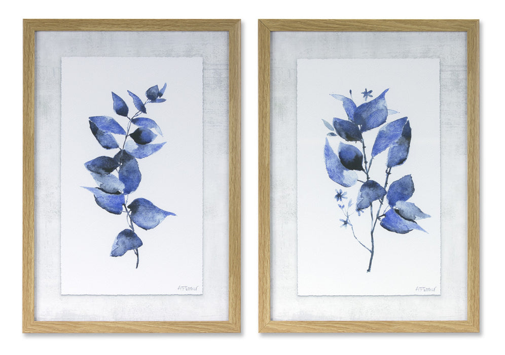 "Framed Leaf Print (Set of 2) 12.75"" x 18.25""H Plastic/MDF"