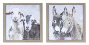 "Donkey/Sheep Frame (Set of 4) 9.5"" x 9.5""H Plastic/MDF"
