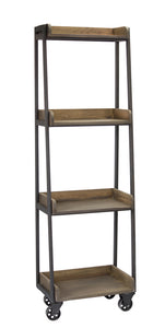 "Floor Shelf 19.5""L x 13""W x 63""H Wood/Metal"