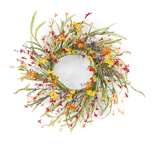 "Mini Floral/Grass Wreath 20""D EVA/Plastic"