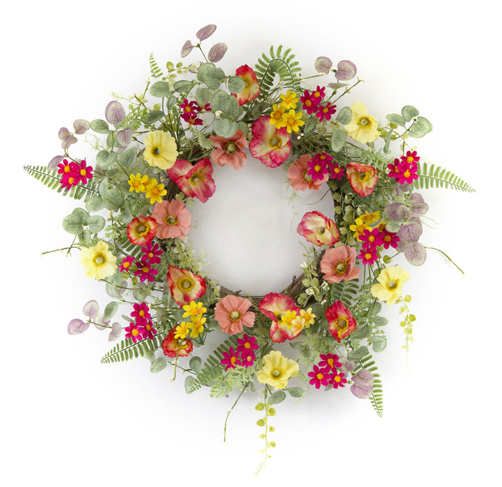 "Poppy Wreath 20""D Polyester/Plastic"