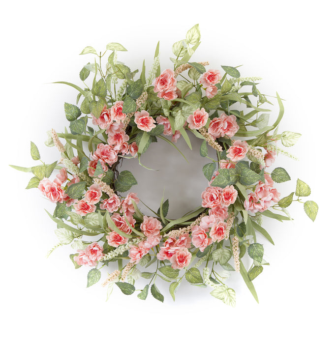 "Floral Wreath 21""D Polyester/Foam"