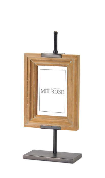 "Frame On Stand (Set of 2) 6"" x 14.25""H Iron/Wood"