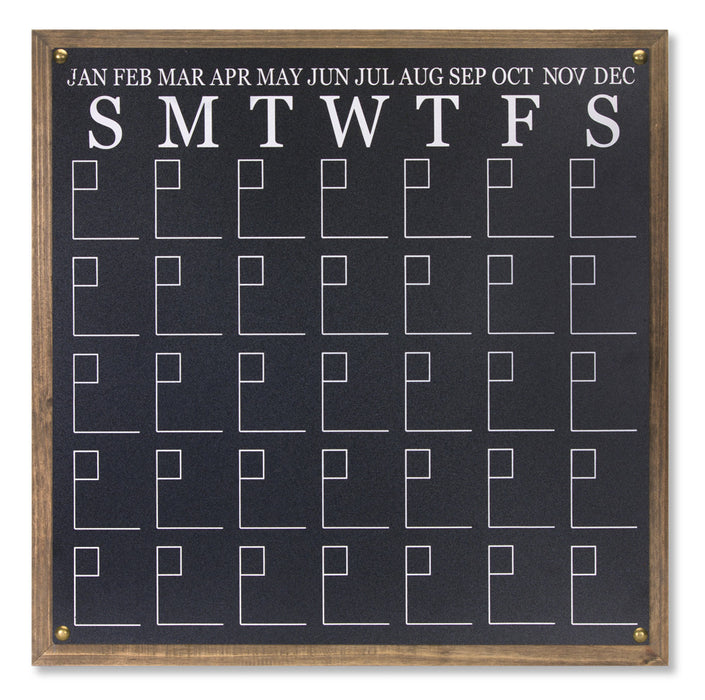 "Chalkboard Calendar (Set of 2) 23.5"" x 23.5""H MDF/Wood"