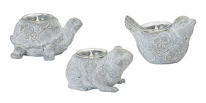 "Animal Tea Light Holder (Set of 6) 3""H, 3.5""H, 4""H Resin/Stone Powder"
