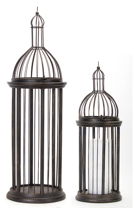 "Bird Cage (Set of 2) 23.25""H, 35.5""H Metal"