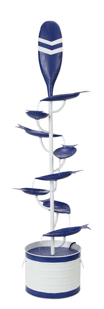 "Oar Fountain 15.25"" x 60""H Iron"