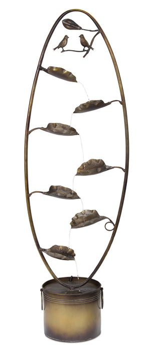 "Bird Fountain 8.5""Wx 58.75""H Iron"