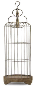 "Bird Cage 41""H Iron/Wood"