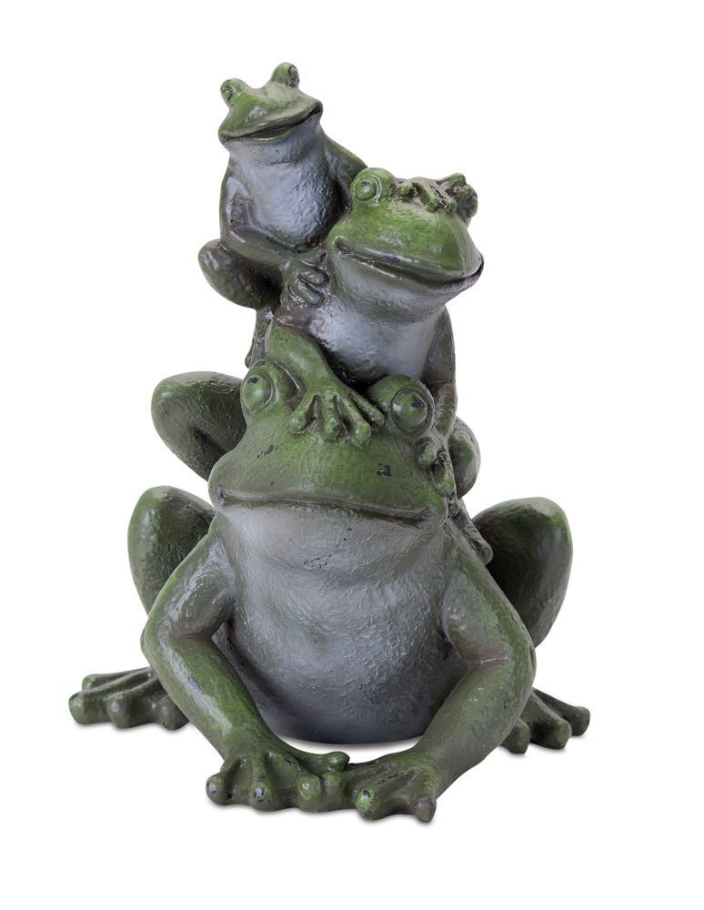 "Frog Stack (Set of 2) 7"" x 9""H Resin"