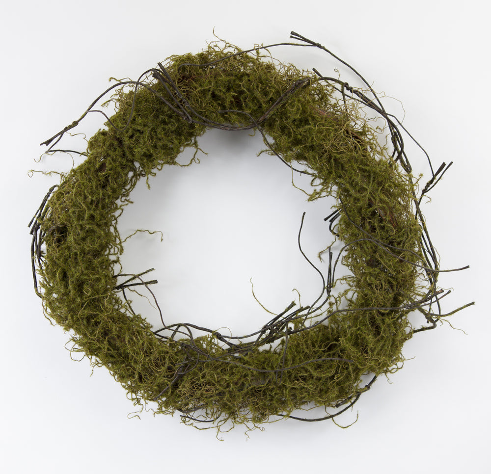 "Moss Wreath (Set of 2) 22""D Plastic"