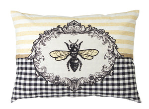 "Bee Pillow (Set of 2) 17.5"" x 13"" Polyester"