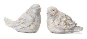 "Bird (Set of 4) 3.5""H, 4""H Cement"