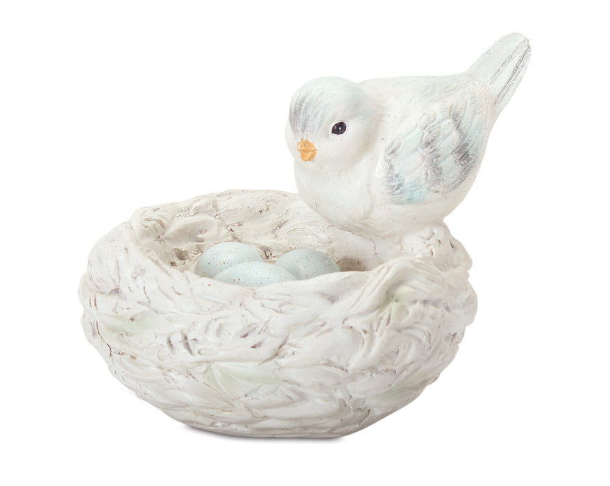 "Bird With Nest (Set of 2) 4.5""H Resin"