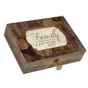 LOVE NEVER ENDS JEWELRY BOX