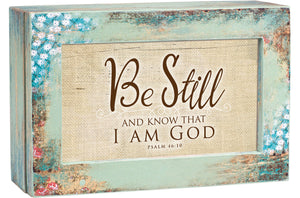 BE STILL AND KNOW JEWELRY BOX