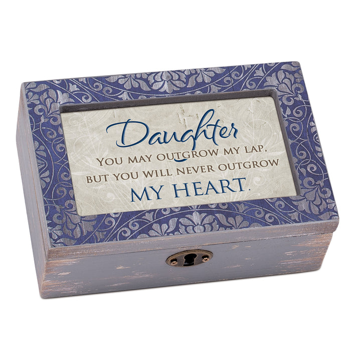DAUGHTER NEVER OUTGROW MY HEART JEWELRY BOX