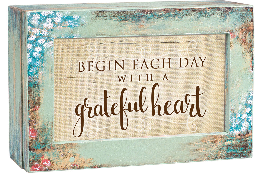 BEGIN EACH DAY JEWELRY BOX