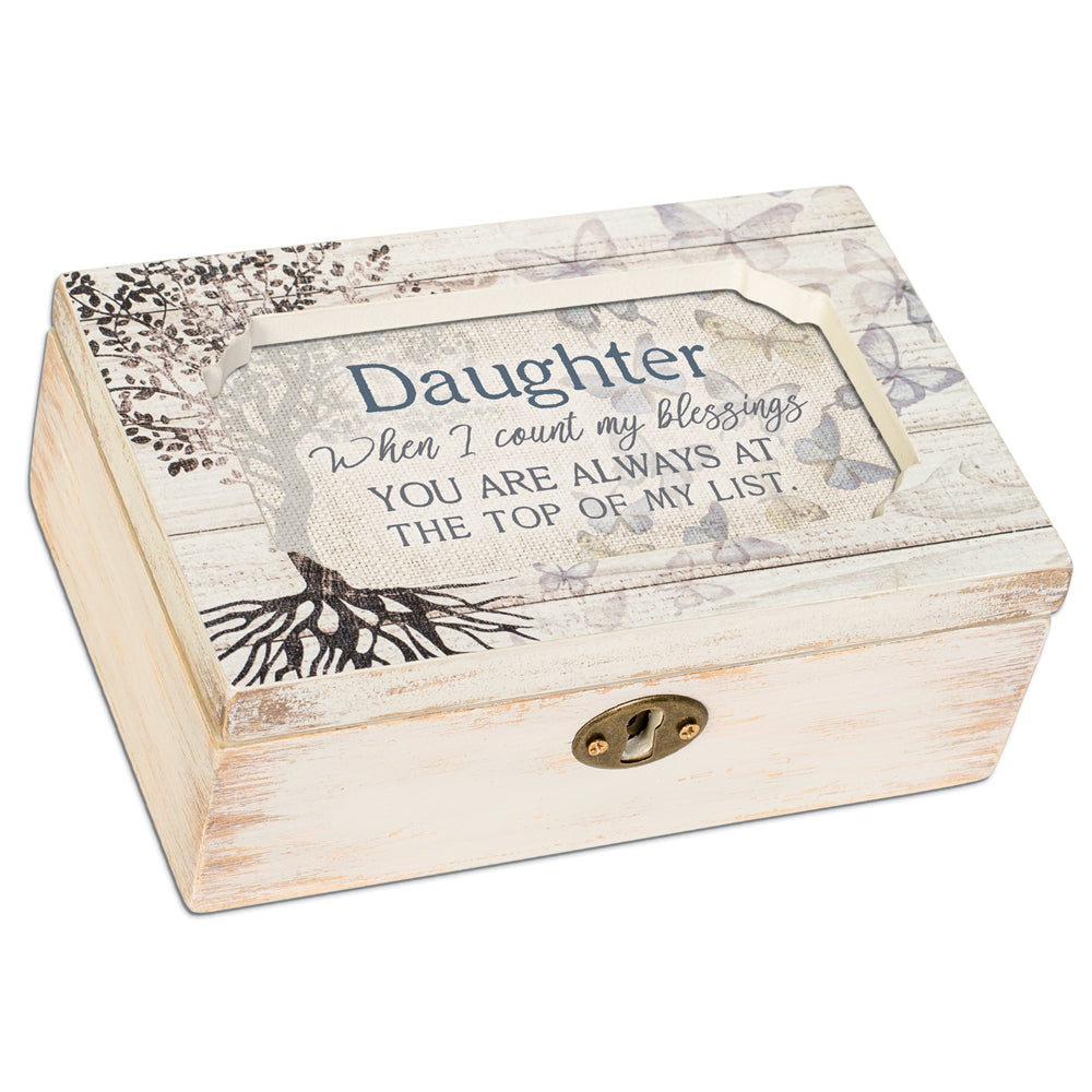 DAUGHTER WHEN I COUNT BLESSINGS JEWELRY BOX