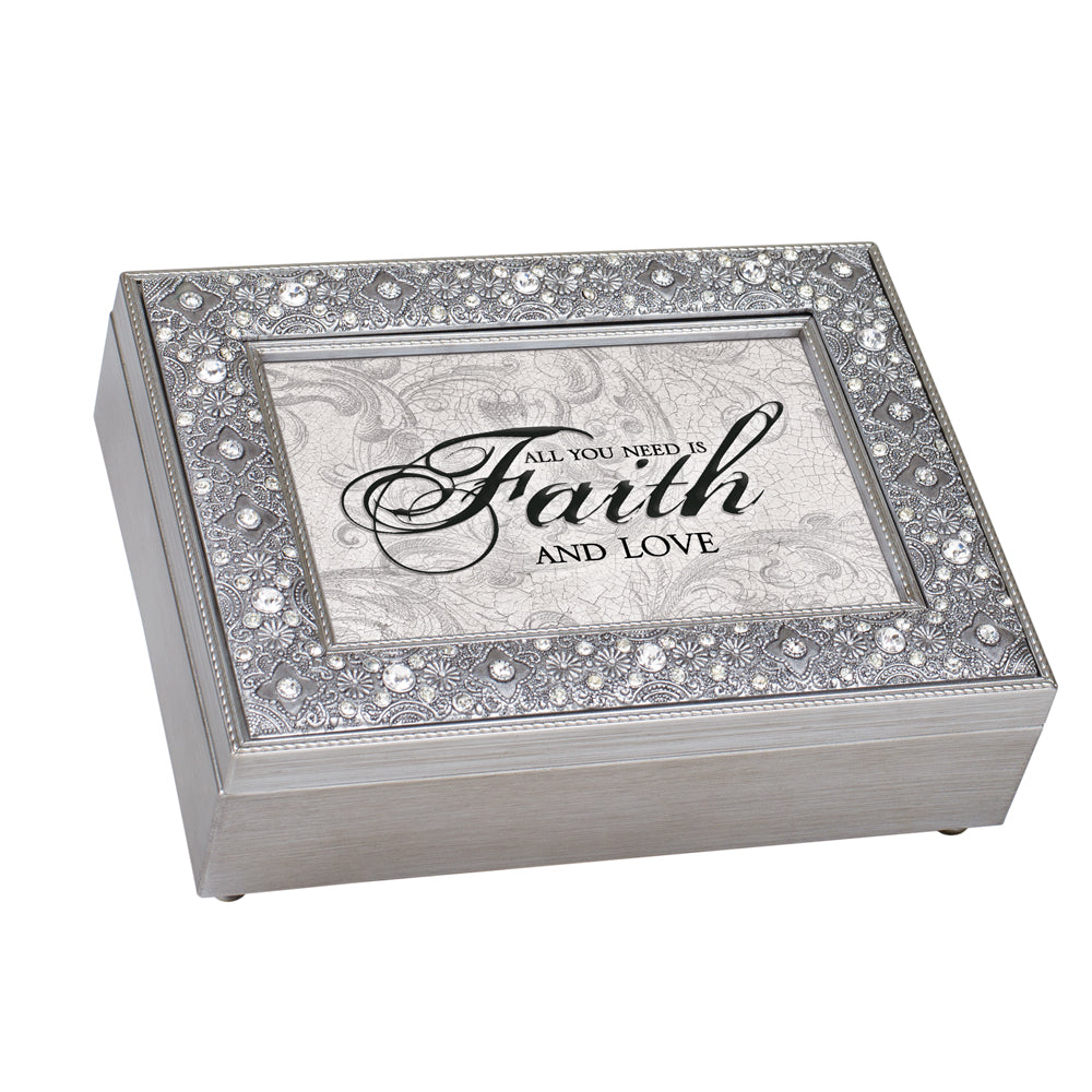 ALL YOU NEED FAITH AND LOVE JEWELRY BOX