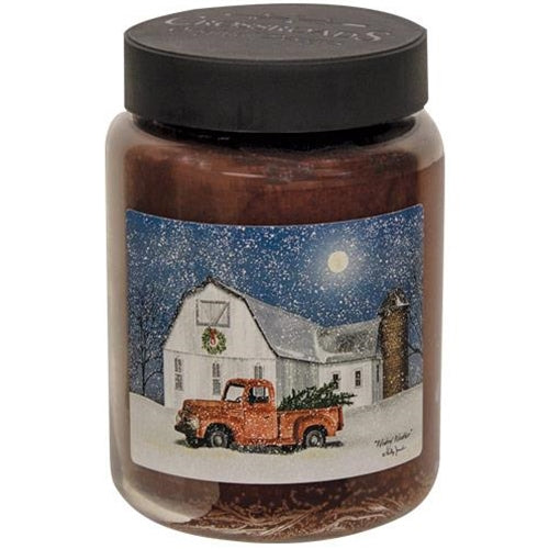 """Wintry Weather"" 26 oz Jar Candle"