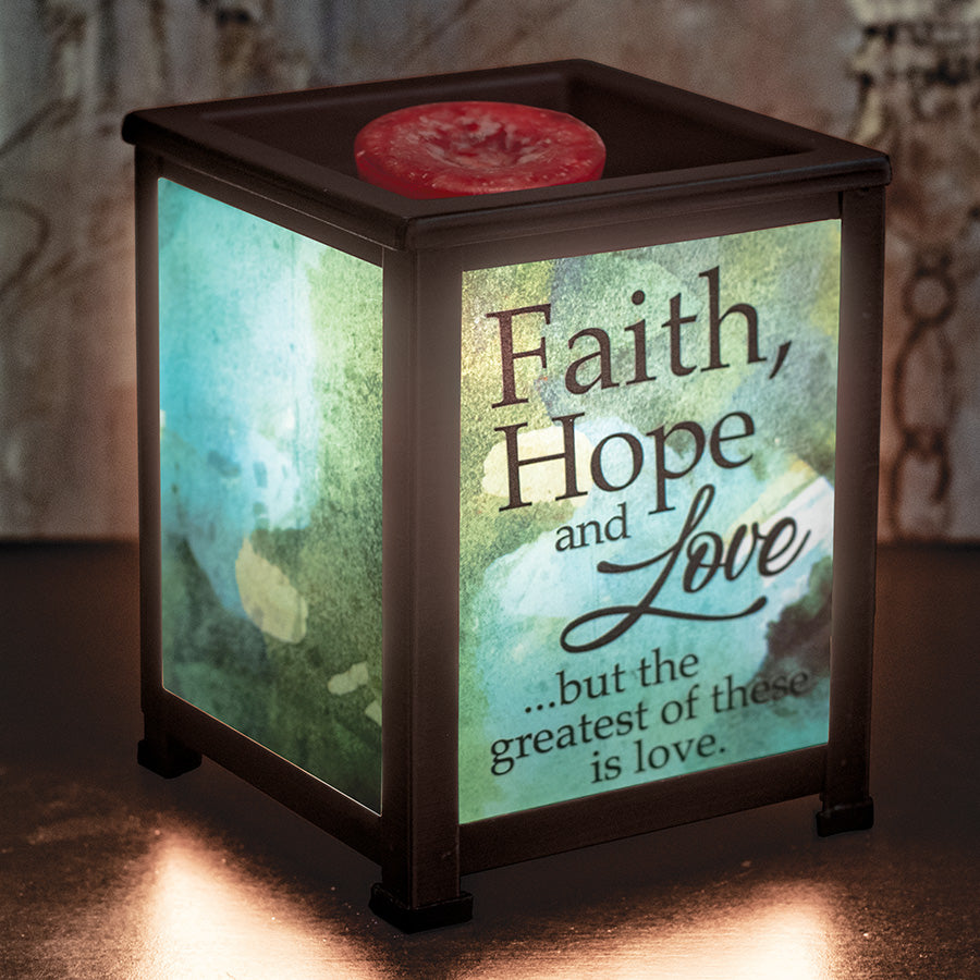 FAITH, HOPE AND LOVE/1 COR. 13:13 LANTERN WARMER