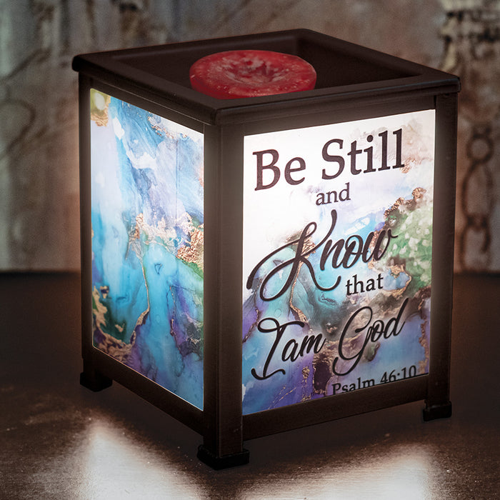 BE STILL AND KNOW/ PSALM 46:10 LANTERN WARMER