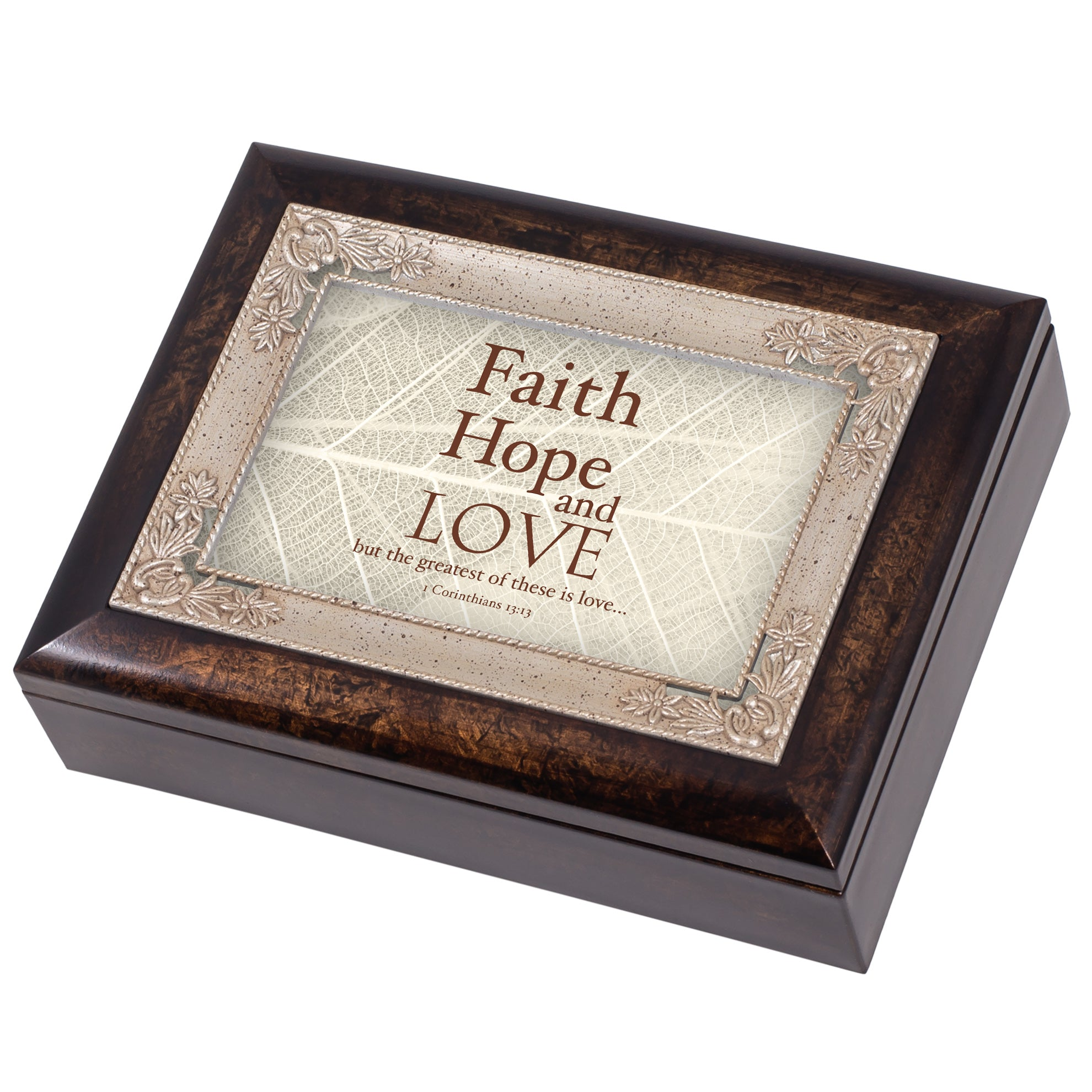 FAITH HOPE LOVE 1 CORINTHIANSJEWELRY BOX