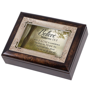 BELIEVE FAITH IS HOPE JEWELRY BOX