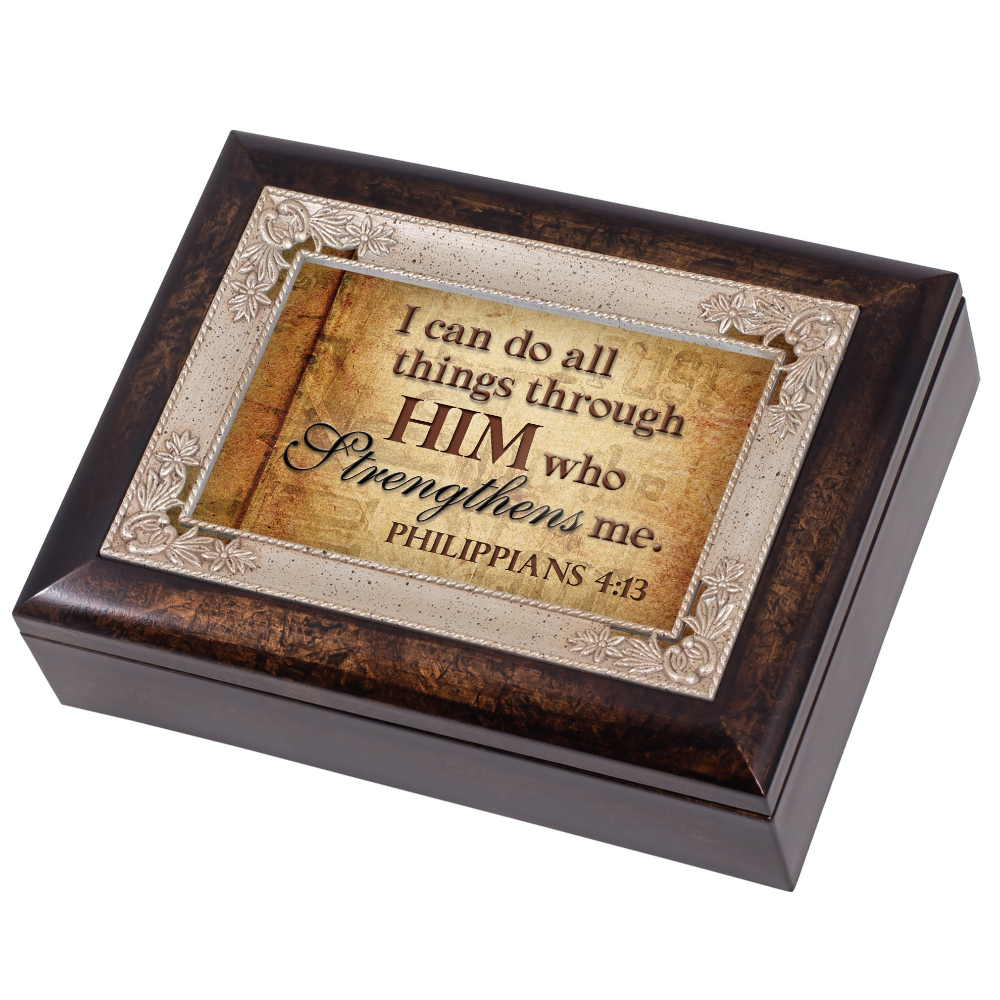 ALL THINGS THROUGH HIM JEWELRY BOX