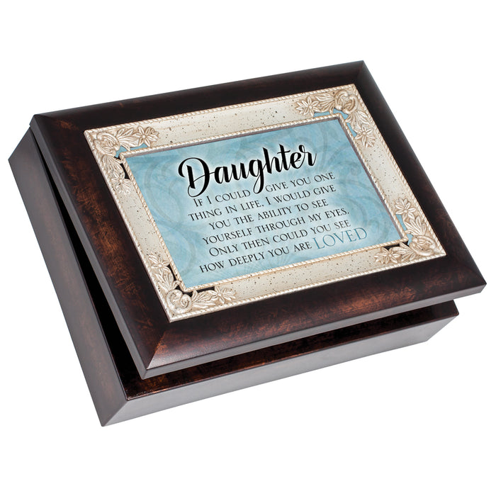 DAUGHTER MY EYES DEEPLY LOVED JEWELRY BOX