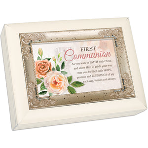 FIRST COMMUNION WALK IN FAITH JEWELRY BOX