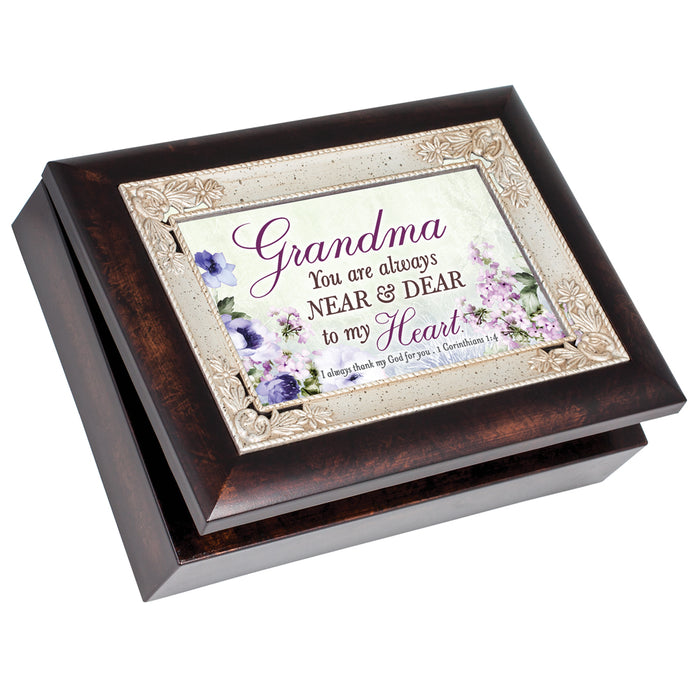 GRANDMA DEAR TO MY HEART JEWELRY BOX