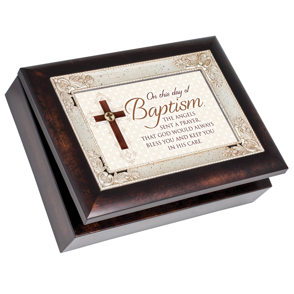 BAPTISM ANGELS SENT A PRAYER JEWELRY BOX