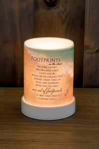 FOOTPRINTS IN THE SAND POEM SCENT WARMER