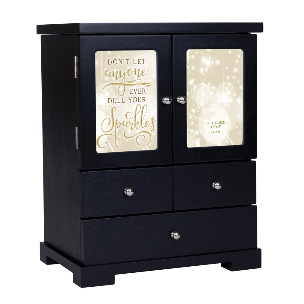 Don't Let Anyone Dull Sparkles BLACK ARMOIRE