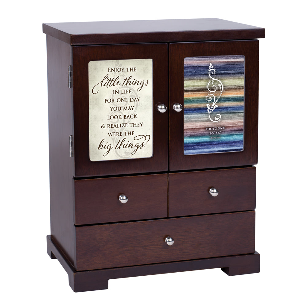 ENJOY THE LITTLE THINGS WALNUT ARMOIRE