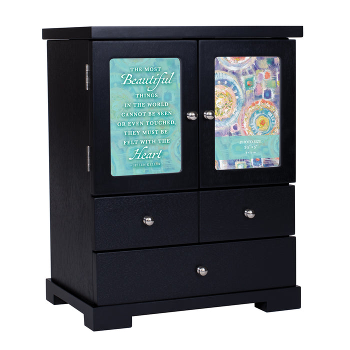 Beautiful Things Felt With Heart BLACK ARMOIRE
