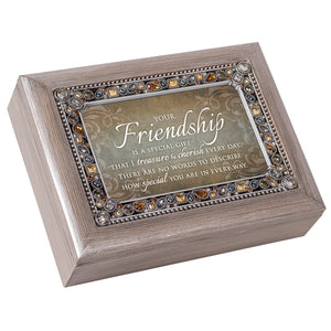 FRIENDSHIP I TREASURE EVERY DAY MUSIC BOX