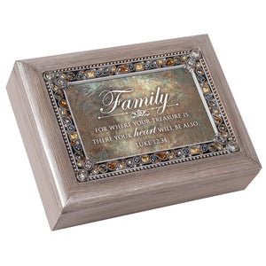 FAMILY YOUR TREASURE YOUR HEART MUSIC BOX