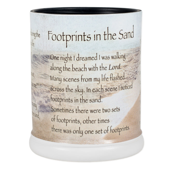 FOOTPRINTS IN THE SAND JAR CANDLE WARMER
