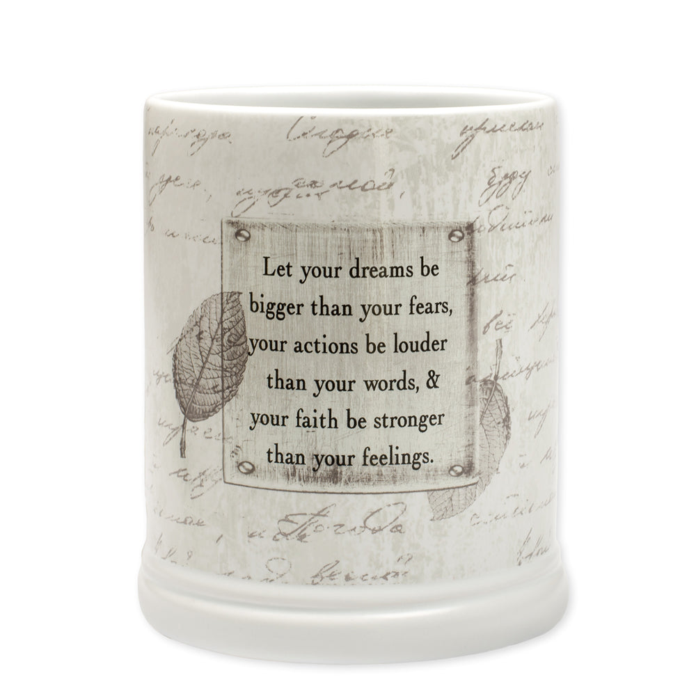 DREAM BIGGER ACTIONS LOUDER CANDLE WARMER