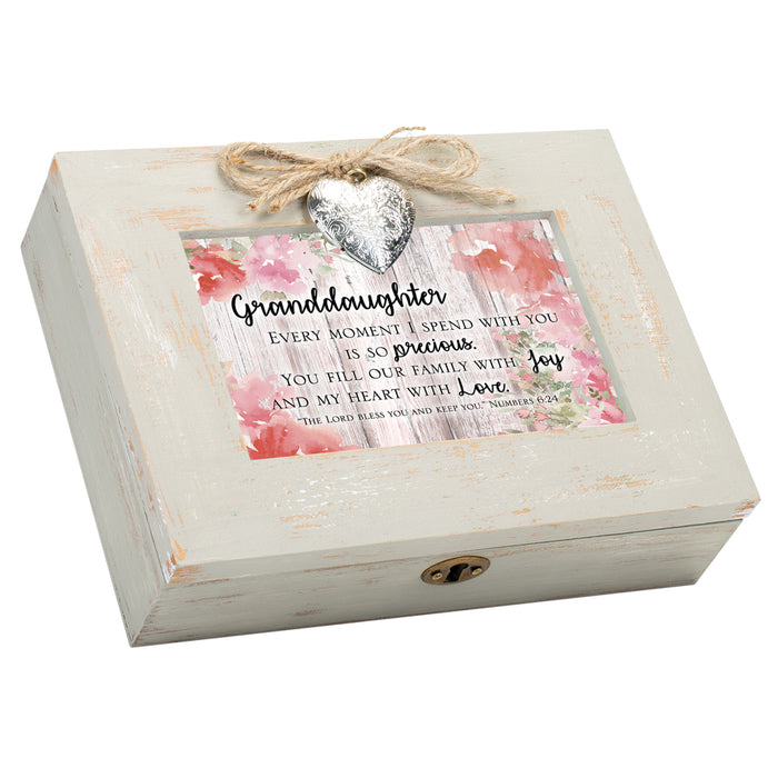 GRANDDAUGHTER FILL HEART WITH LOVE SCRIPT MUSIC BOX