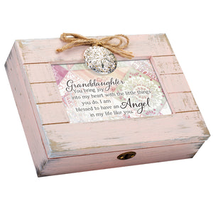 GRANDDAUGHTER JOY BLESSED ANGEL MUSIC BOX