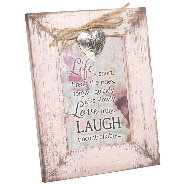 FORGIVE QUICKLY KISS LOVE LAUGH FRAME
