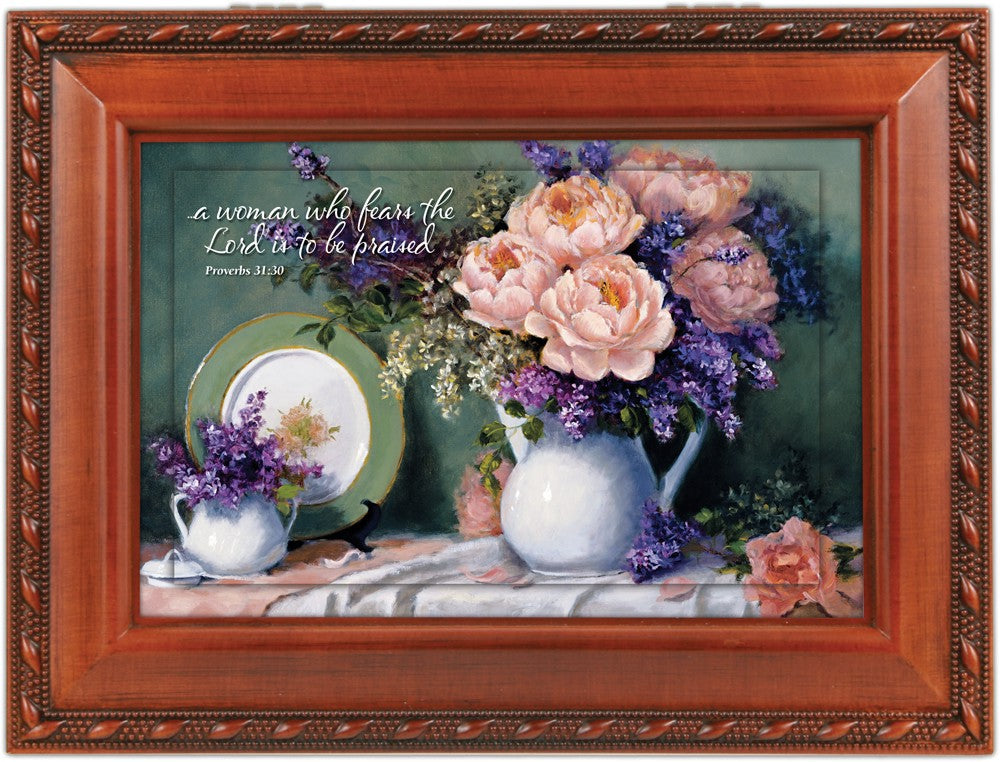 FLORAL MOTHER SCRIPT MUSIC BOX