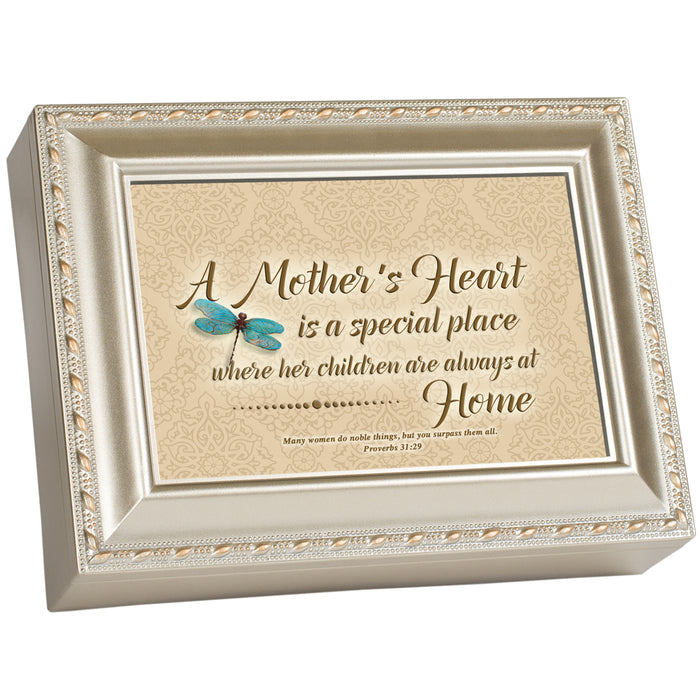 A MOTHER'S HEART IS HOME MUSIC BOX